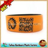 Bracelet fait sur commande de forme de montre de bracelet de silicones de code de Qr (TH-08850)