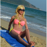 Signora europea Solid Sex Doll (158cm) del bikini di Sun Tan