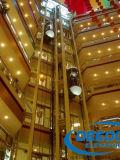 Elevador de visita turístico de excursión de cristal panorámico del cuadrado superior de las alamedas