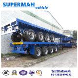 Aanhangwagen 4 van de Vrachtwagen van de Container van het nut Flatbed Semi As voor Zware Lading
