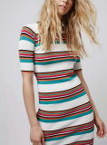 Camisola Dress do OEM Fashion das mulheres com Stripes