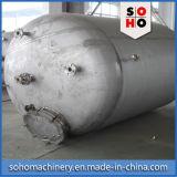 El tanque de almacenaje horizontal del acero inoxidable