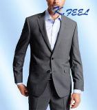 가장 새로운 모직 회색 가는 세로 줄무늬 디자이너 남자를 위한 형식적인 정장