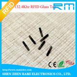 134.2kHz puce de l'IDENTIFICATION RF NFC/capsule/étiquette en verre pour l'identification animale