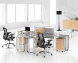 Moderner Büro-Partition-Melamin Claft 2 Personen-Arbeitsplatz (SZ-WS320)
