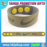 Bracelet fait sur commande en bloc promotionnel de silicone de charme, bracelet en cuir, bracelet de mode