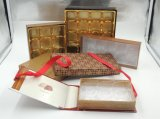 Het Vakje van de Gift van het Karton van het document met het Dienblad van de Blaar voor Chocolade
