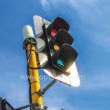 """Structures solaires de signal de feu de signalisation de voie du plein écran de clignotement personnalisé économiseur d'énergie 12 de l'avertissement DEL du marché européen """" 4"""