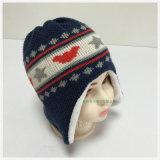 2016 il doppio jacquard sveglio bello acrilico di strato 100% nuovo lavorato a maglia scherza il cappello di Earflap