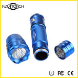 электрофонарь алюминиевого сплава СИД 260lm 160m чувствительный перезаряжаемые (NK-167)