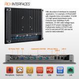 """15 """" industrieller eingebetteter schroffer Bildschirm des Panel-PC/Touch einteiliger PC"""