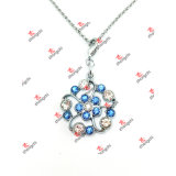 Form Crystal Flower Necklace/Earrings Set für Lady Gifts (FNE50908)