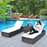 Outdoor rotin Chaises de plage / Sunbed / Lounger / Daybed