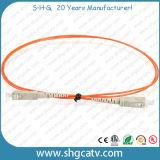 Cordon de connexion recto de fibre optique de mode multi élevé de Reliablity (SC/PC)