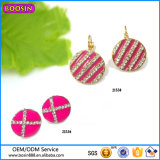 Guangzhou Boosin Zinc Alloy Jewelry, Cross Rhinestone Enaeml Earring # 21552