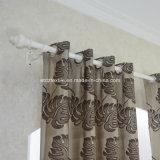 Populares chocolate Jacquard contracción del diseño floral de tela de la cortina