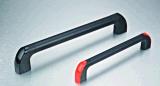 Manopola tubolare di PA del tubo di alluminio verniciata il nero