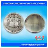 금속판 로고를 가진 유행 명랑한 금속 동전