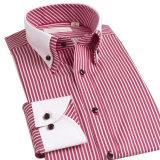 Casuali di lusso degli uomini caldi di modo dimagriscono la camicia di vestito adatta