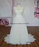 Cordón moldeado de espalda atractivo A - línea vestidos de boda