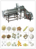 Diversas clases de bocado del soplo del maíz que hace la máquina