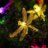 Do Natal claro solar do diodo emissor de luz Gargen da libélula iluminação ao ar livre