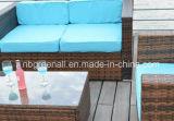 Мебель сада Wicker софы ротанга PE напольная