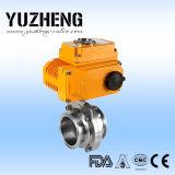 Válvula de mariposa eléctrica sanitaria de Yuzheng Dn50