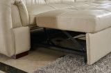 クリーム色カラー新しい到着のリクライニングチェアの革ソファー(9018)