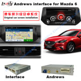 Interfaccia di percorso Android di GPS dell'automobile video per Mazda6 Atenza