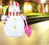 Shopping Mall Weihnachtsdekoration 3D LED-Motiv Schneemann Licht