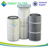 Cartuccia di filtro non tessuta dalla polvere del tessuto di Forst Spunbond per il rivestimento della polvere