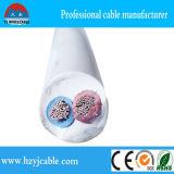 Fio elétrico subterrâneo isolado do fio de cobre