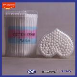 3 do '' cotonetes de algodão da vara do papel do presente comprimento na caixa pequena dos PP do coração