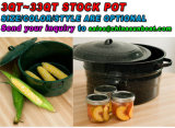 工場提供3qt~33qtの標準的な鍋、Stockpot、エナメルのStockpot、調理器具