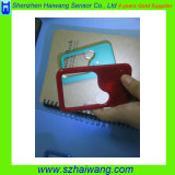 싼 LED 돋보기 포켓 크기 LED 가벼운 선전용 카드 돋보기 Hw-212PA