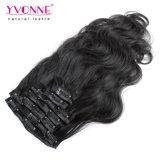 Clip en Human Hair Extensions para Black Women