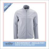 Großhandelsmens-graue Breathable Winter Softshell Umhüllung mit kundenspezifischem Firmenzeichen