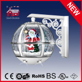 Schnee Globe White Wall Light mit Top Lace und LED Lights