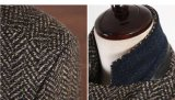2016 revestimentos e revestimentos clássicos do inverno dos homens de Brown da mistura de lãs