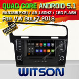 Carro DVD GPS do Android 5.1 de Witson para VW Golf7 2013 com sustentação do Internet DVR da ROM WiFi 3G do chipset 1080P 16g (A5521)