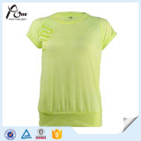 Usura al neon di sport delle ragazze delle magliette della pianura di colore di modo