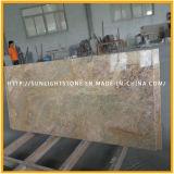 인도 싱크대를 위한 제국 금 화강암 돌 석판 또는 허영 상단 또는 Worktops