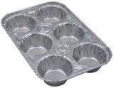 Контейнеры алюминиевой фольги лотка булочки