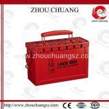 De rode die Fabrikant van de Post van de Uitrusting van de Uitsluiting van de Veiligheid van het Staal met Hangslot wordt gebruikt