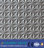 El panel de pared decorativo de la pared interior 3D de la onda lujuriante del tablero