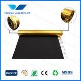 Het zwarte Schuim van EVA met de Gouden Film Waterdichte Underlayment van het Aluminium voor Bevloering