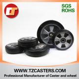 Schwenker-Fußrolle mit Bremsen-Gummi-Rad-Aluminium-Mitte