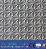 Los paneles de pared decorativos de madera interiores de la onda