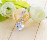 Покрынный серебром способ ожерель сердца диаманта CZ Bridal (CNL0224-B)